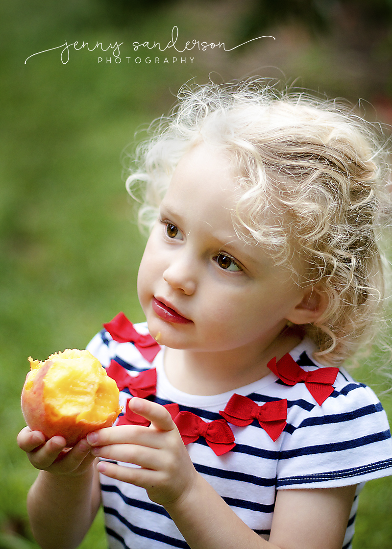 2015 Little girl, Michigan Peach, best natural light photographer, Final, watermark