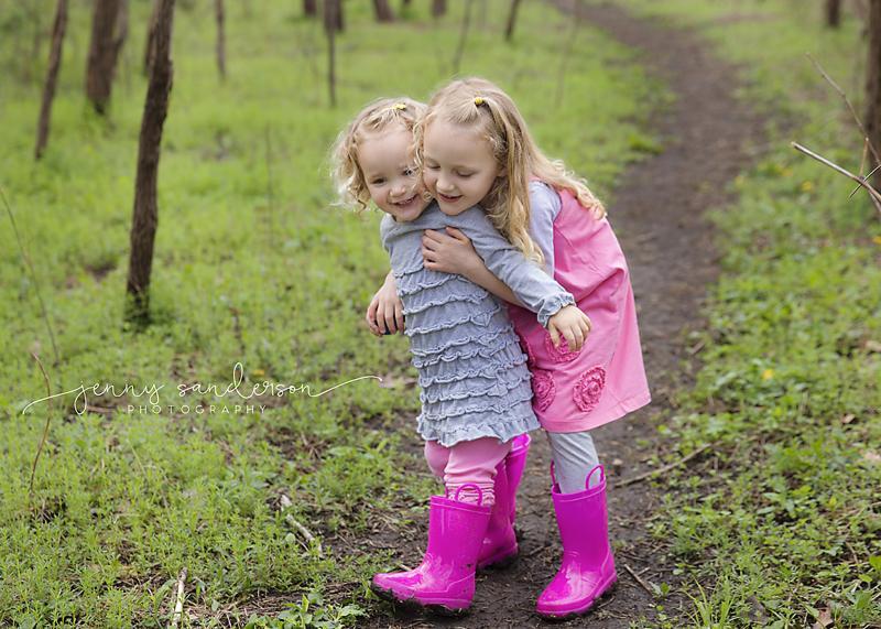 Sisters spring photo shoot, Park Ridge photographer